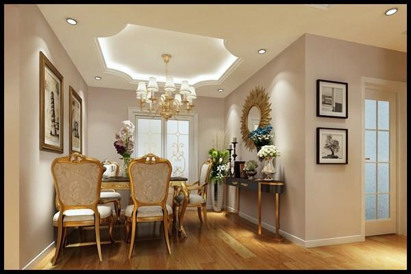 客餐厅吊顶采花式吊顶,打造不一样的客餐厅空间,拉升空间层次感!图片