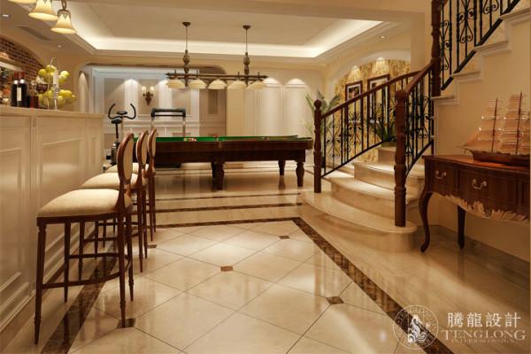 莫奈庄园370平别墅装修设计参考方案展示,腾龙设计师祝炯作品,欢迎品鉴!