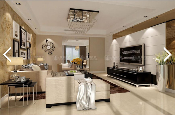 浦东133平三房公寓户型装修现代简约欧式风格设计方案展示,腾龙设计师祝炯作品,欢迎品鉴!