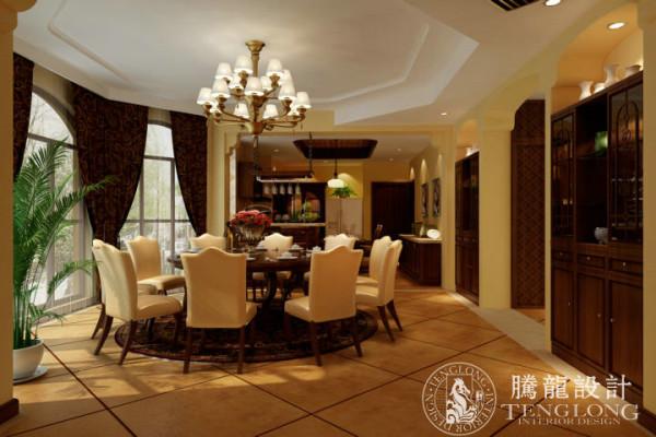 圣得庄园350平别墅装修美式风格设计方案展示,腾龙设计师祝炯作品,欢迎品鉴!