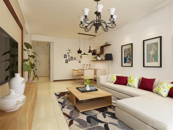 此户型为盛世睿园两室两厅一厨一卫85㎡户型,设计风格定为现代简约风格。简洁和有用是现代简约个性的基本特色。