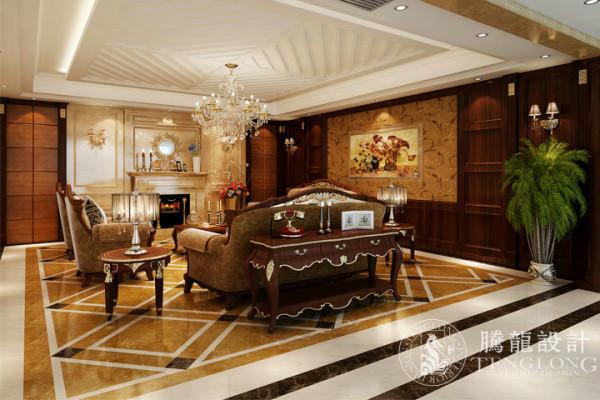 浦江华侨城250平别墅户型装修简约美式风格设计方案展示,腾龙设计师祝炯作品,欢迎品鉴!