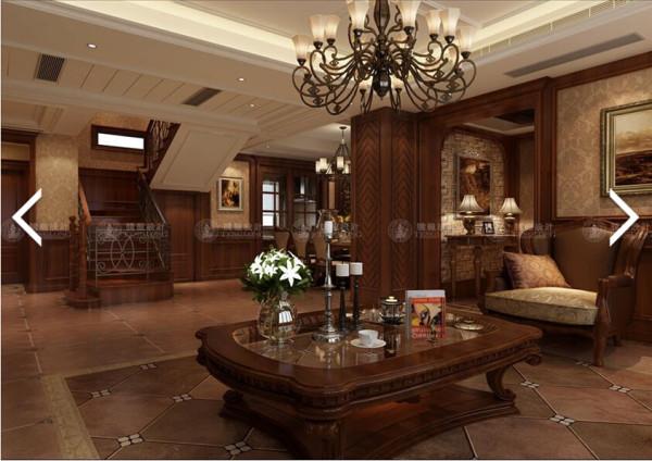 别墅装修优雅美式风,腾龙设计师祝炯作品,欢迎品鉴!