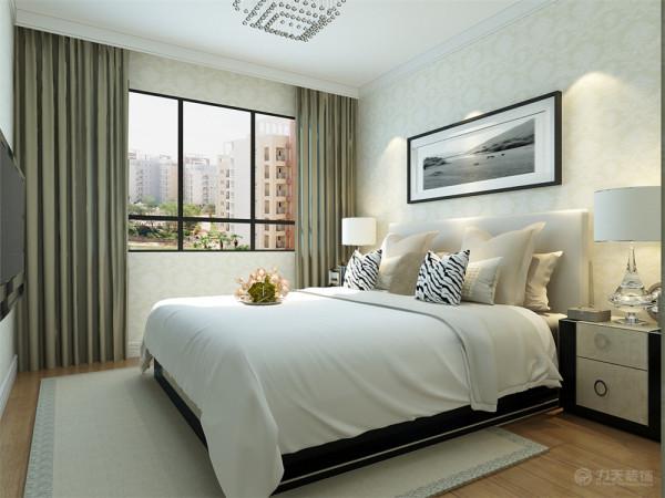 卧室简单的使用石膏线圈边处理