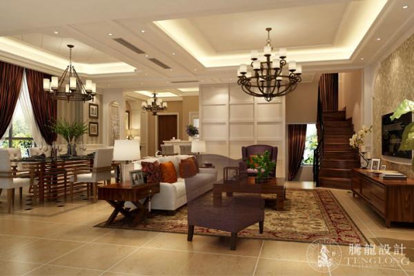 万科尚景园160平别墅装修现代简约欧式风格设计方案展示,腾龙设计师祝炯作品,欢迎品鉴!
