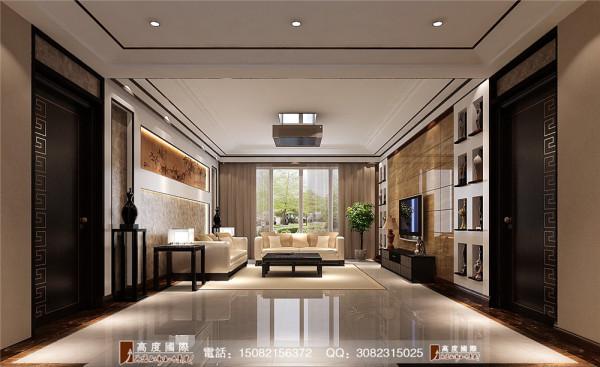 蔚蓝卡地亚客厅细节效果图---高度国际装饰设计