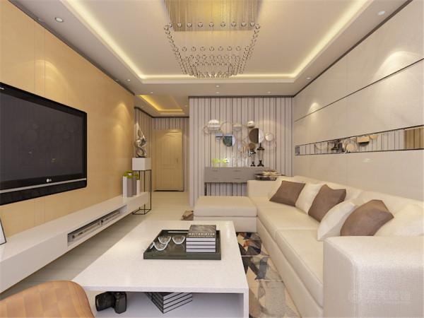 本户型为天津市华城领秀91平米的户型,本案设计为现代简约风格。