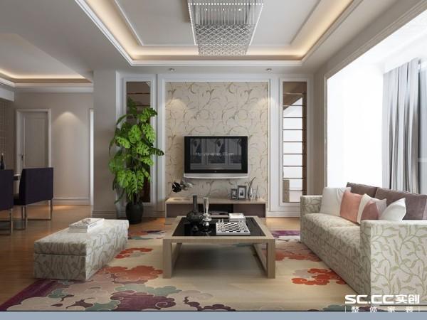 压低电视柜檯度呈现无压视野,而层次丰富的电视墙也以细巧比例拿捏出素雅简约立面。