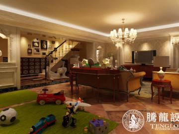 新浦江城500平别墅欧式古典风格
