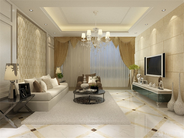 该户型为为新华国际一室一厅一厨一卫101平米户型。因为此户型为公寓式住宅,并且业主并不是长期居住,所以在设计风格上采用的是酒店式的现代简约风格,用暖色偏暗一点的灯光来烘托出整体比较适宜休息的感觉。