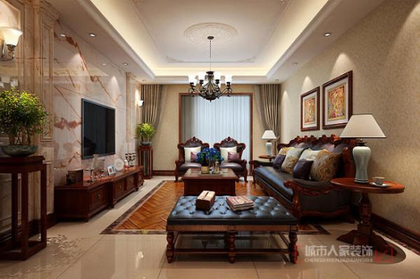 普华浅水湾260平米 复式装修 客厅设计