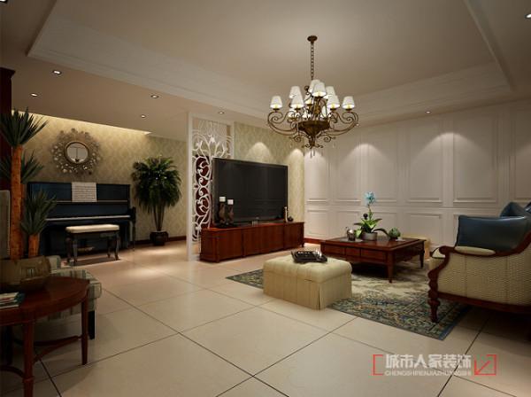 普华浅水湾260平米 复式装修 负一层客厅设计