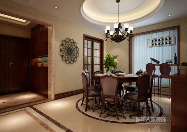 普华浅水湾260平米 复式装修 餐厅设计