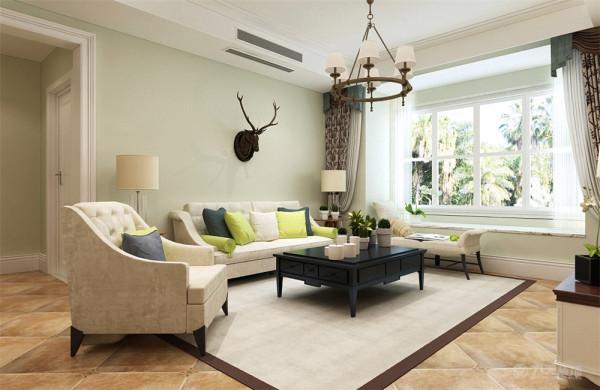 该方案是阳光经典三室两厅一厨两卫147平米的一个户型。整体风格为美式,但是业主不要那种传统的木色美式,而是喜欢白色的、带些许美式乡村和北欧的感觉。所以在整个方案的设计上大多采用浅色调为主。
