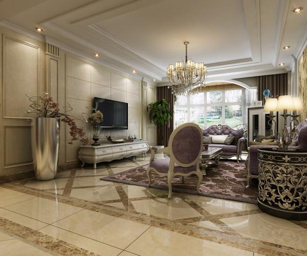 现代简欧式的设计,凝结了现代唯美的时尚与欧式的贵族与优雅,本案中设计师以典雅的壁纸来装饰沙发墙,彰显整个居室空间内的基调,空间层次感十足的吊灯,轮廓优美的沙发,显示出富丽堂皇的气质。