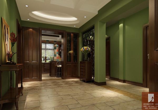 美式田园 高度国际装饰设计 门厅细节图