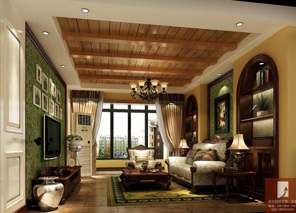 美式田园 高度国际装饰设计 客厅细节图