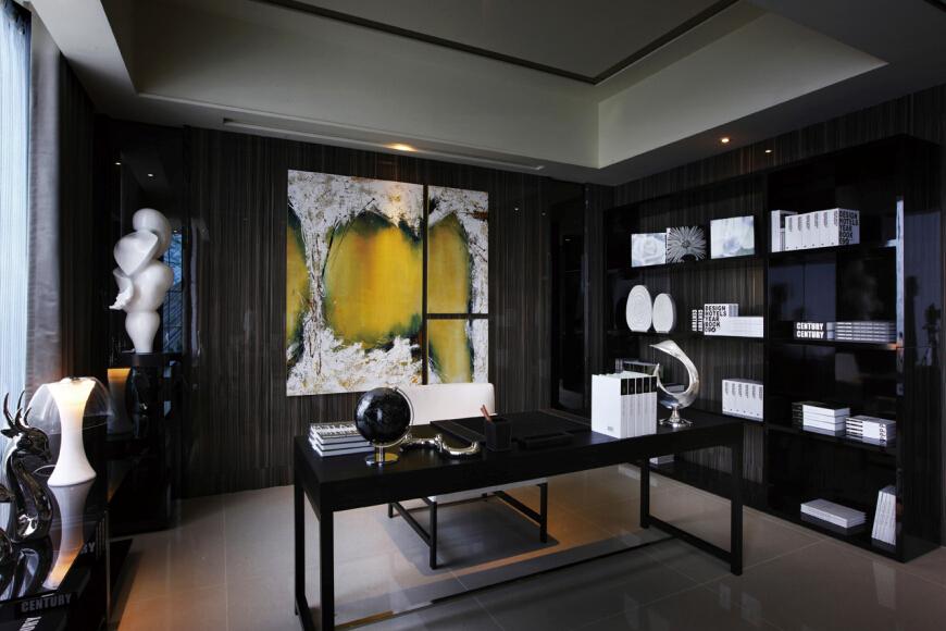 新古典 简约 书房图片来自紫禁尚品设计师李擎在江南山水新古典简约风的分享