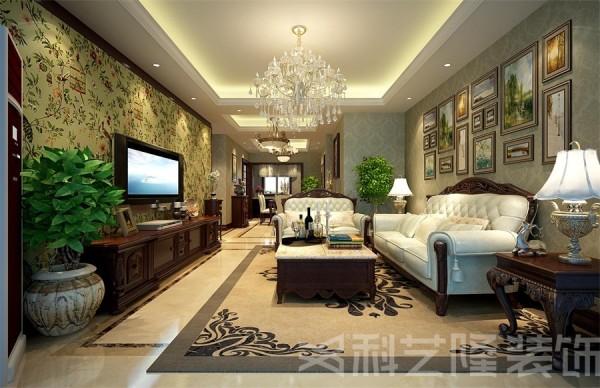 本案在设计上追求空间变化的连续性和形体变化的层次感,室内多采用带有图案的壁纸,地毯,窗帘,及古典装饰画,体现华丽的风格!