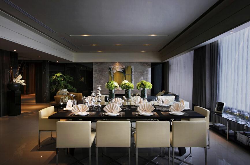 新古典 简约 餐厅图片来自紫禁尚品设计师李擎在江南山水新古典简约风的分享