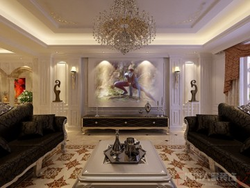 曲池坊206㎡白欧风格设计作品
