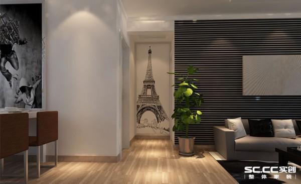 用黑白的埃菲尔铁塔照片衬托出完美的设计元素,以及一些完美的设计理念,把埃菲尔搬到家里,把浪漫驻在心里