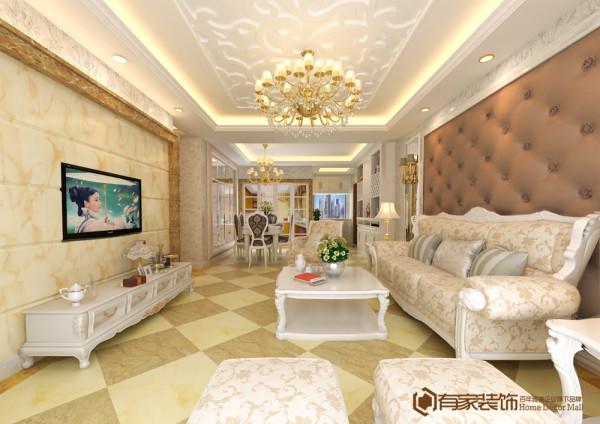 欧式 四居 奢华 客厅图片来自福州有家装饰-小彭在正荣润城1#的分享