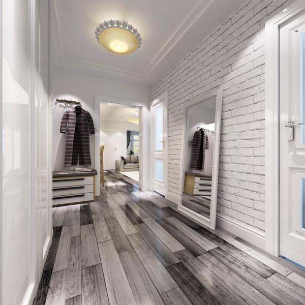 门厅:白色瓷片装饰墙面,崇尚自然。