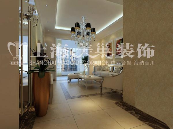 润城简欧装修87平2室2厅样板间客厅效果图