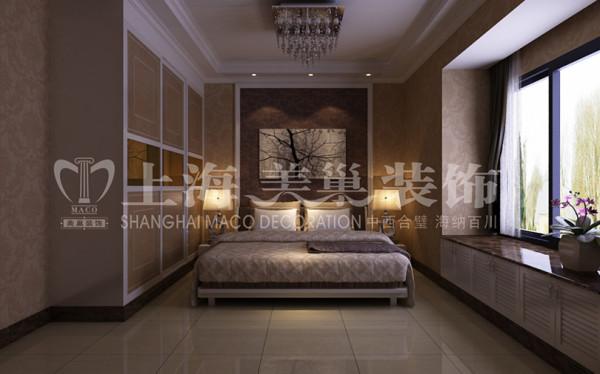 润城简欧装修87平2室2厅样板间卧室效果图