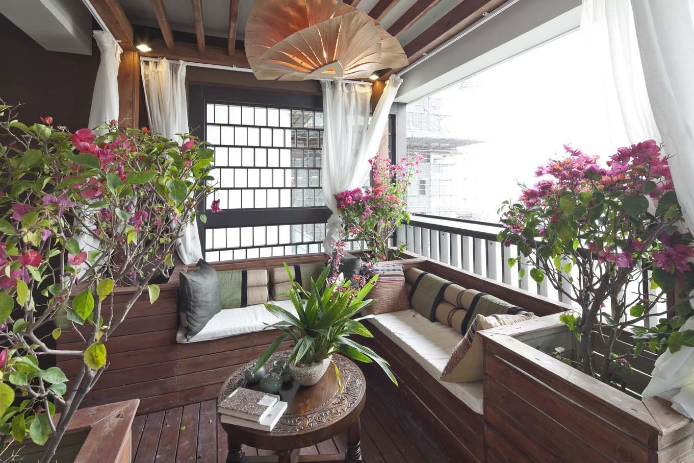 小资 白领 阳台图片来自武汉豪迪装饰公司在尚湖熙园的分享