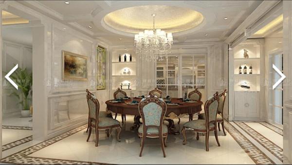 昌鑫花园360平别墅户型装修欧式古典风格设计方案展示,腾龙别墅设计师成建飞作品,欢迎品鉴!