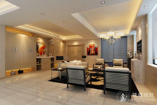 大唐别墅300平现代风格装修设计方案展示,腾龙别墅设计师周灏作品,欢迎品鉴!