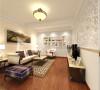 客厅和餐厅的设计,只为营造出一种舒适大方的居住环境。