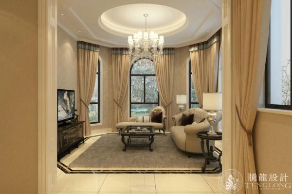 保利叶语250平别墅户型装修欧式风格设计方案展示,腾龙别墅设计师成建飞作品,欢迎品鉴!