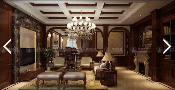 长泰东郊御园美式古典风格设计方案展示,腾龙别墅设计师成建飞作品,欢迎品鉴!