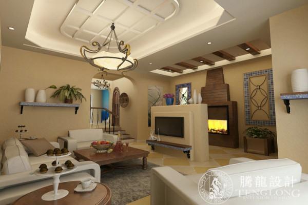 合生城邦别墅装修美式风格设计方案展示,腾龙别墅设计师周灏作品,欢迎品鉴!