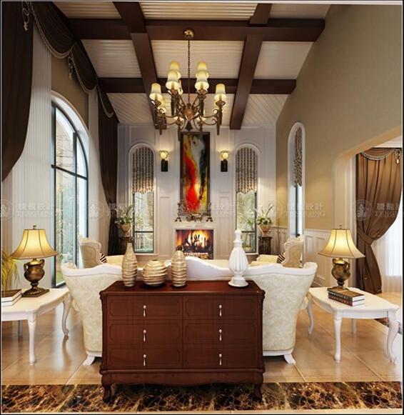 长泰西郊440平别墅户型装修欧美风格设计方案展示,腾龙别墅设计师周灏作品,欢迎品鉴!