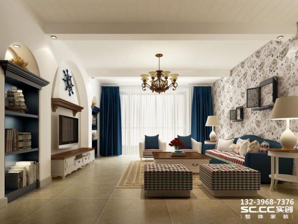设计 理念客厅以典型的地中海风格为主,以蓝白为主色调,以浅色为主深色为辅。相对比拥有浓厚欧洲风味的欧式装修风格,简欧更为清新、也更符合中国人内敛的审美观念。 主材 说明福乐阁乳胶漆、蒙娜丽莎大地砖