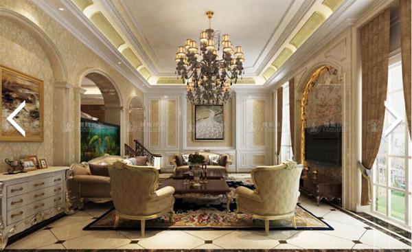 恒荣府邸266平别墅户型装修欧式新古典风格设计方案展示,腾龙别墅设计师成建飞作品,欢迎品鉴!
