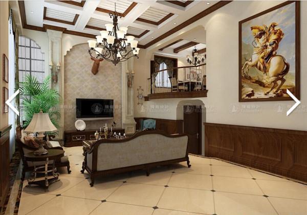 西郊世纪挑空别墅250平别墅户型装修美式风格设计方案展示,腾龙别墅设计师成建飞作品,欢迎品鉴!