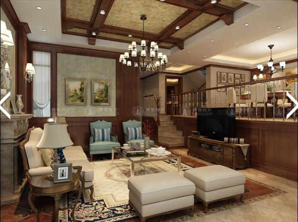 北欧阳光270平别墅户型装修美式风格设计方案展示,腾龙别墅设计师成建飞作品欢迎品鉴!