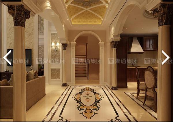 保利叶语250平别墅户型装修欧式风格设计方案,腾龙别墅设计师成建飞作品,欢迎品鉴!