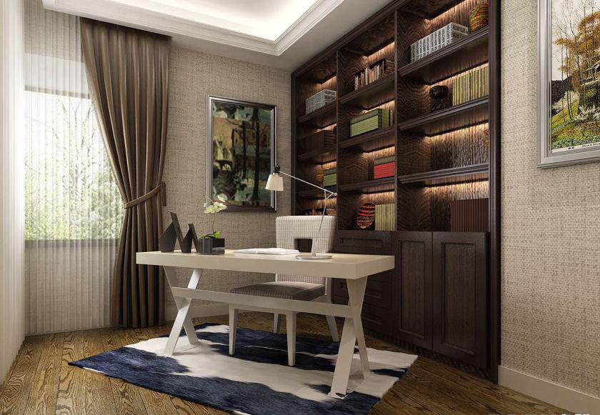 简约 欧式 三居 白领 收纳 80后 小资 书房图片来自实创装饰百灵在港式案例 198平米装修的分享