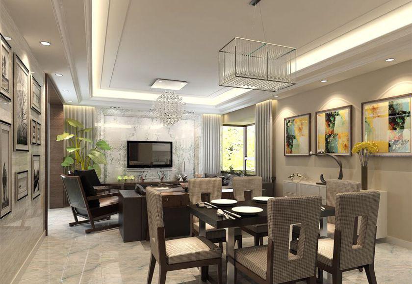 简约 欧式 三居 白领 收纳 80后 小资 餐厅图片来自实创装饰百灵在港式案例 198平米装修的分享