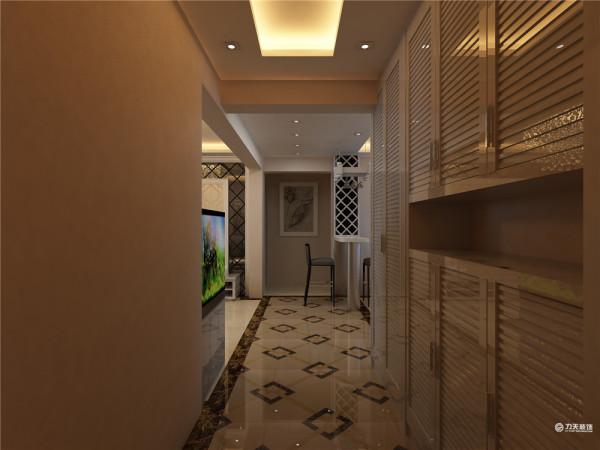 餐厅做回字型吊顶过道分别于客厅
