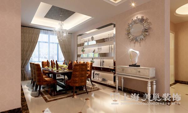 建业森林半岛装修160平简欧四室效果图——餐厅效果图