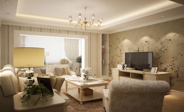 华强城市广场89平方两室两厅现代简约装修效果图