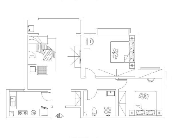 实创装饰设计90㎡简约中式宽景大宅-新房装修
