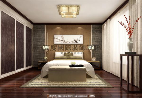 华润幸福里卧室细节效果图---高度国际装饰设计